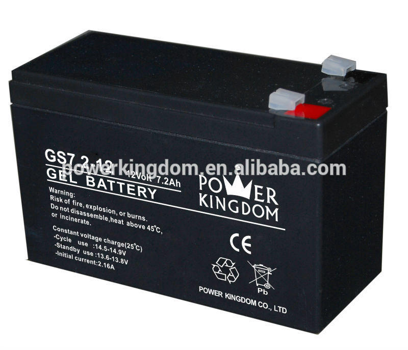 GEL Battery 12v 7.2ah Rechargeable Battery for UPS