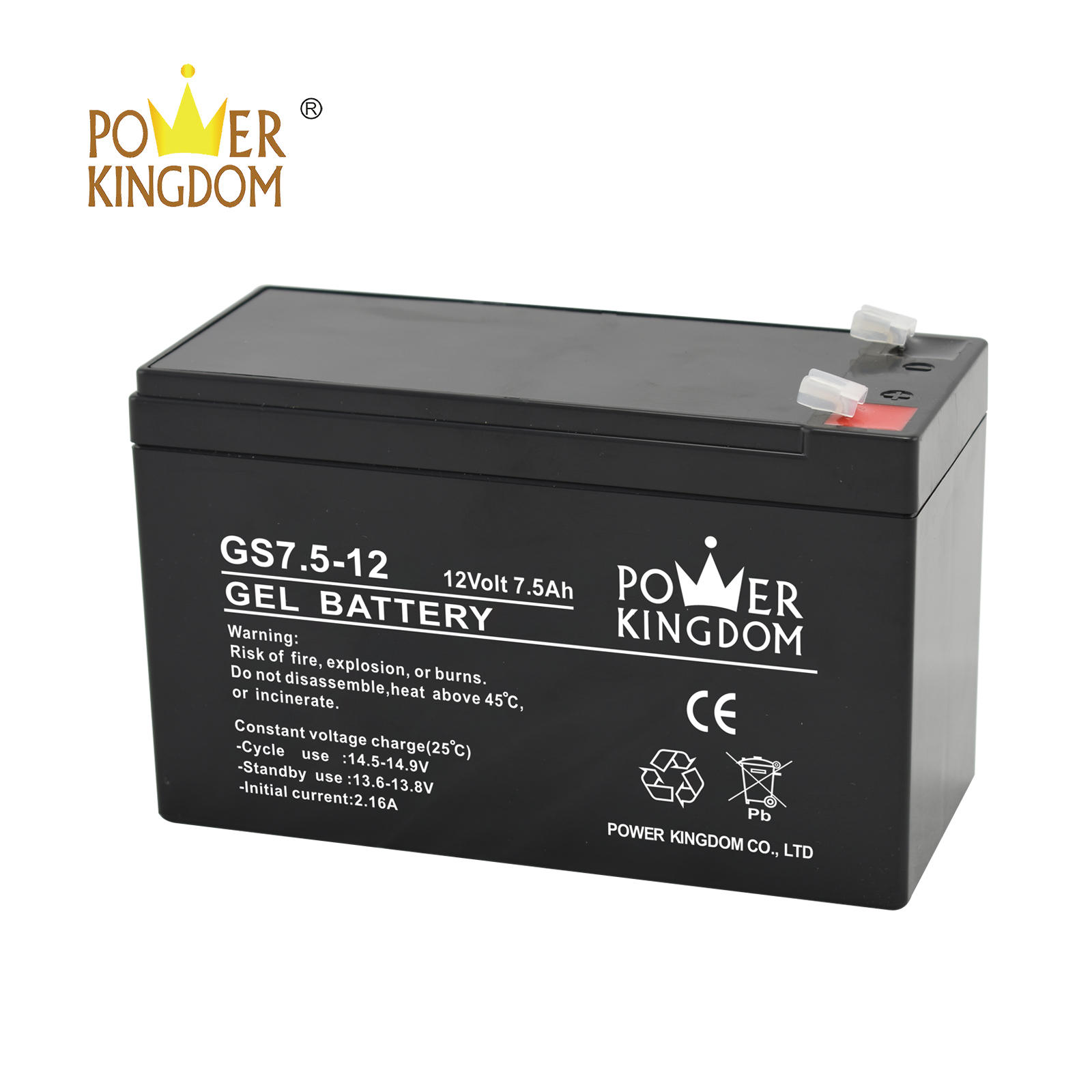 12V 7.5Ah rechargeable VRLA SLA AGM GEL deep cycle high rate battery for UPS Alarm Solar system