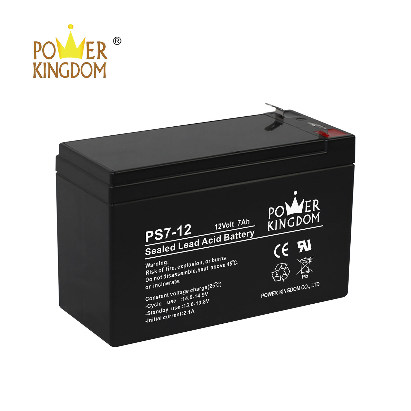 high quality rechargeable sla battery 12v 7ah for UPS fire alarm security lighting system with low price