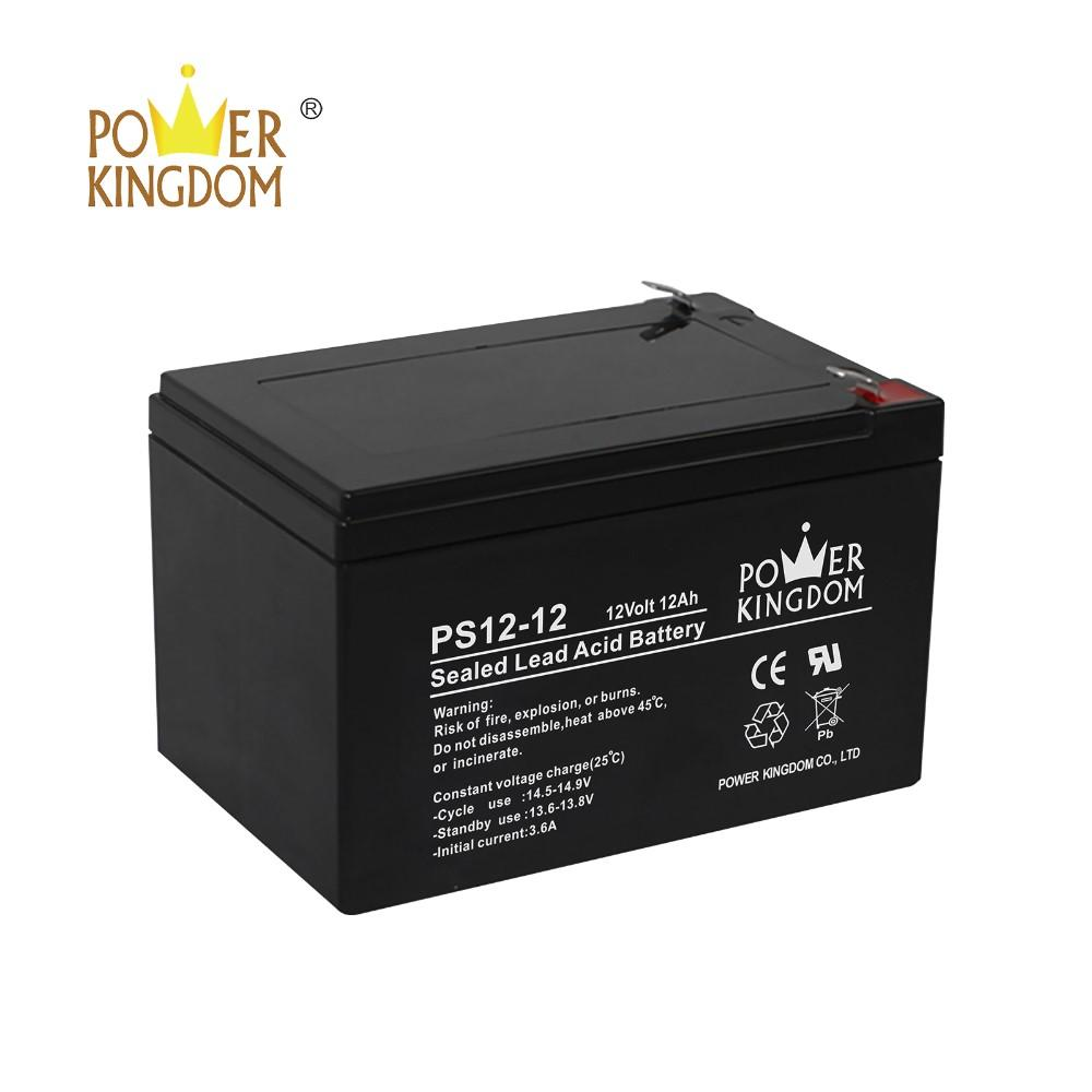 POWER KINGDOM 12 months warranty 12v 12ah 20hr rechargeable sla battery for UPS scooter alarm