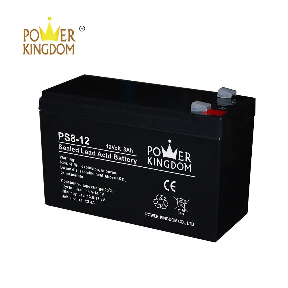 Factory price 12v 8ah 20hr pure lead battery with one year warranty