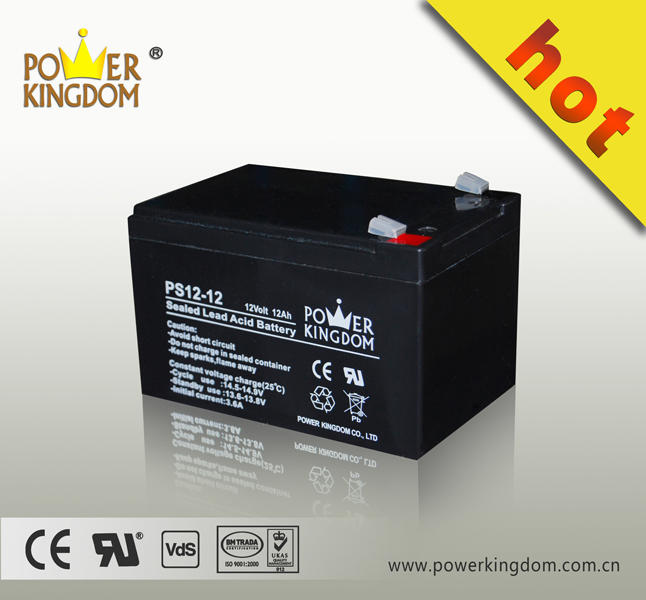 Small 12 volt 12ah sealed lead acid AGM battery solar batteries