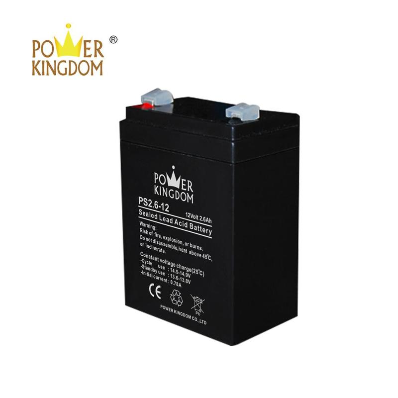 12v 2.6ah battery alarm system lead acid accumulator 6fm 2.6
