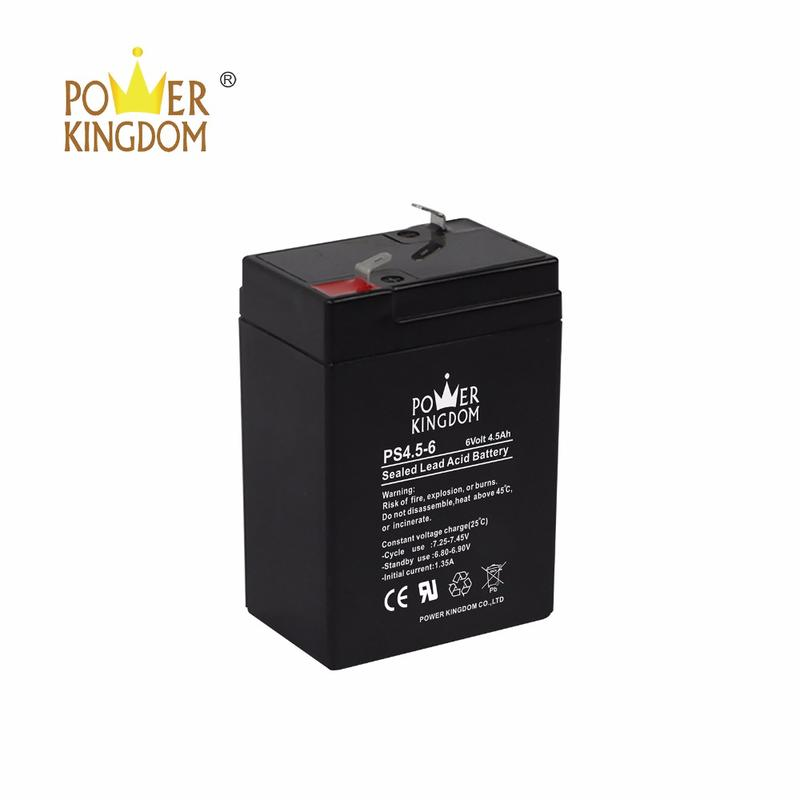 Power Kingdom rechargeable lead acid battery 6v4.5ah