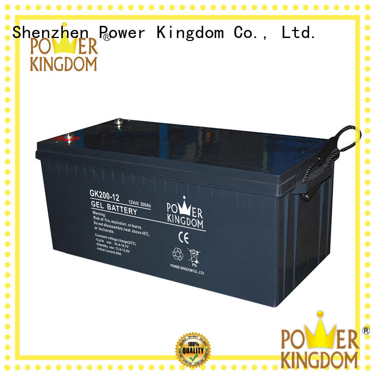 Power Kingdom rechargeable sealed lead acid battery factory medical equipment