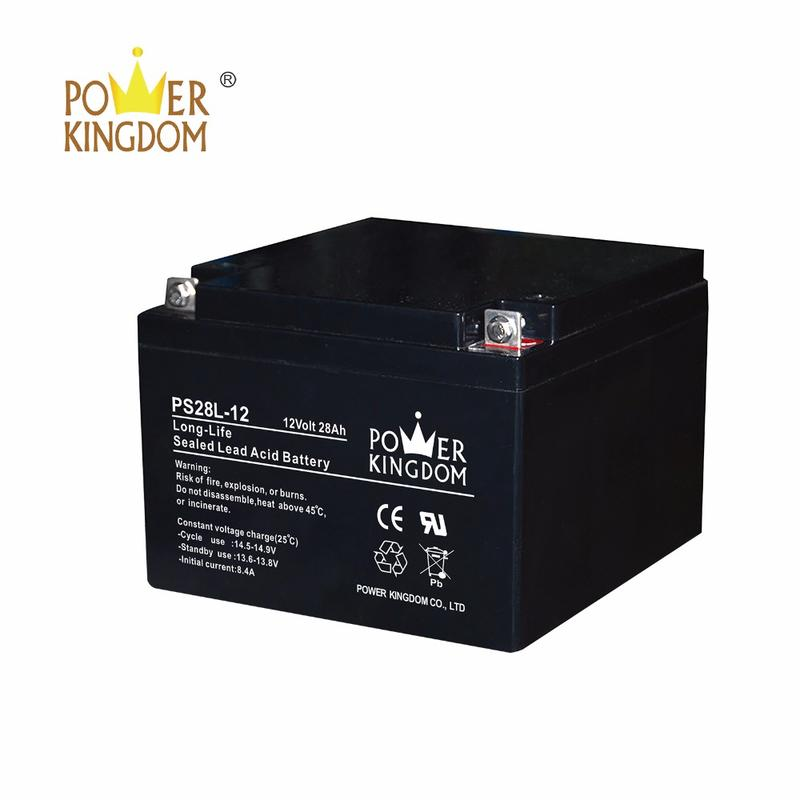 12v 28ah mf deep cycle agm storage battery