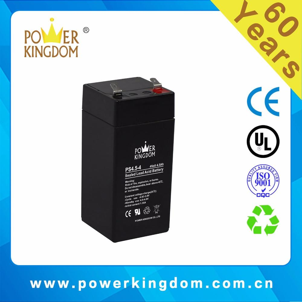 Storage lead acid battery 4v4.5 battery for UPS equipment and Electric tools