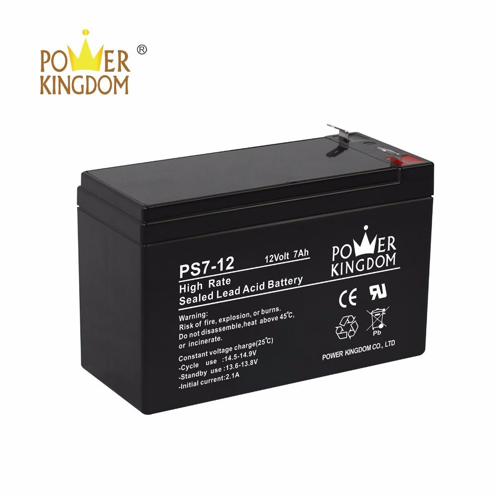 UL certificated battery 12v 7ah 20hr ps7 12 battery