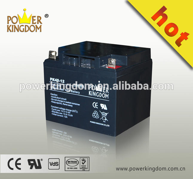 High quality lead acid batteries 12v 40ah gel battery