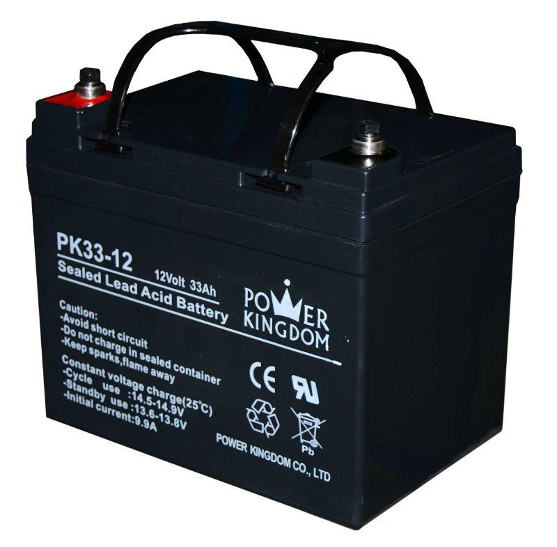 price Solar Panel Battery 12V 33Ah