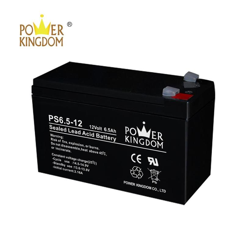 12v 6.5ah 20hr rechargeable ups battery free maintenance