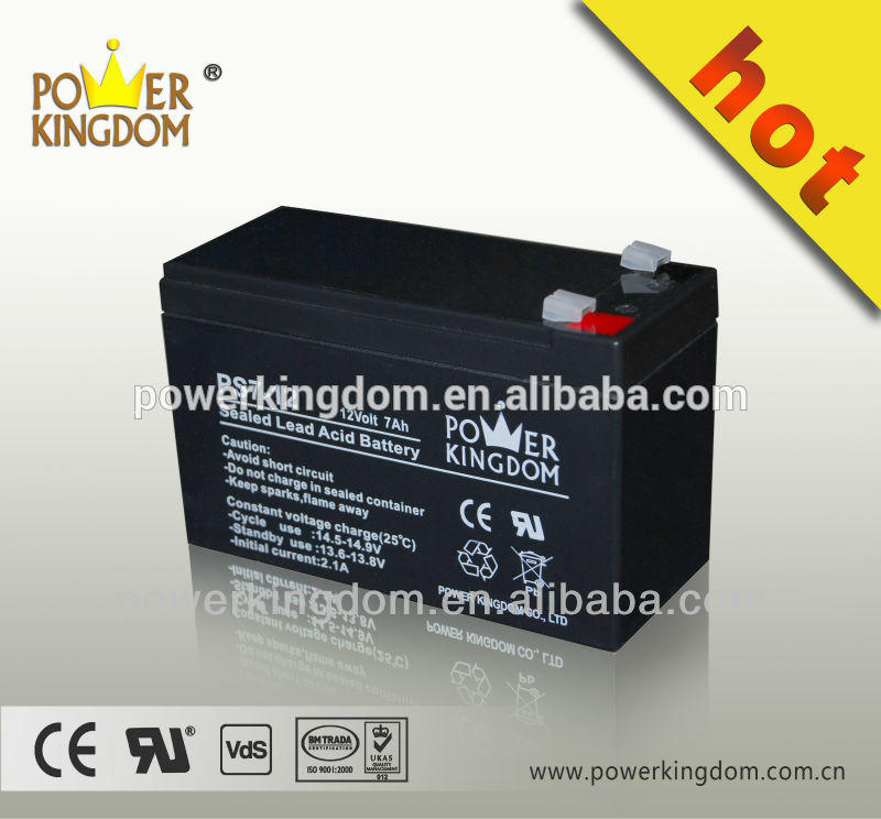 Rechargeable battery for ups/power kingdom 12v 7ah batteries