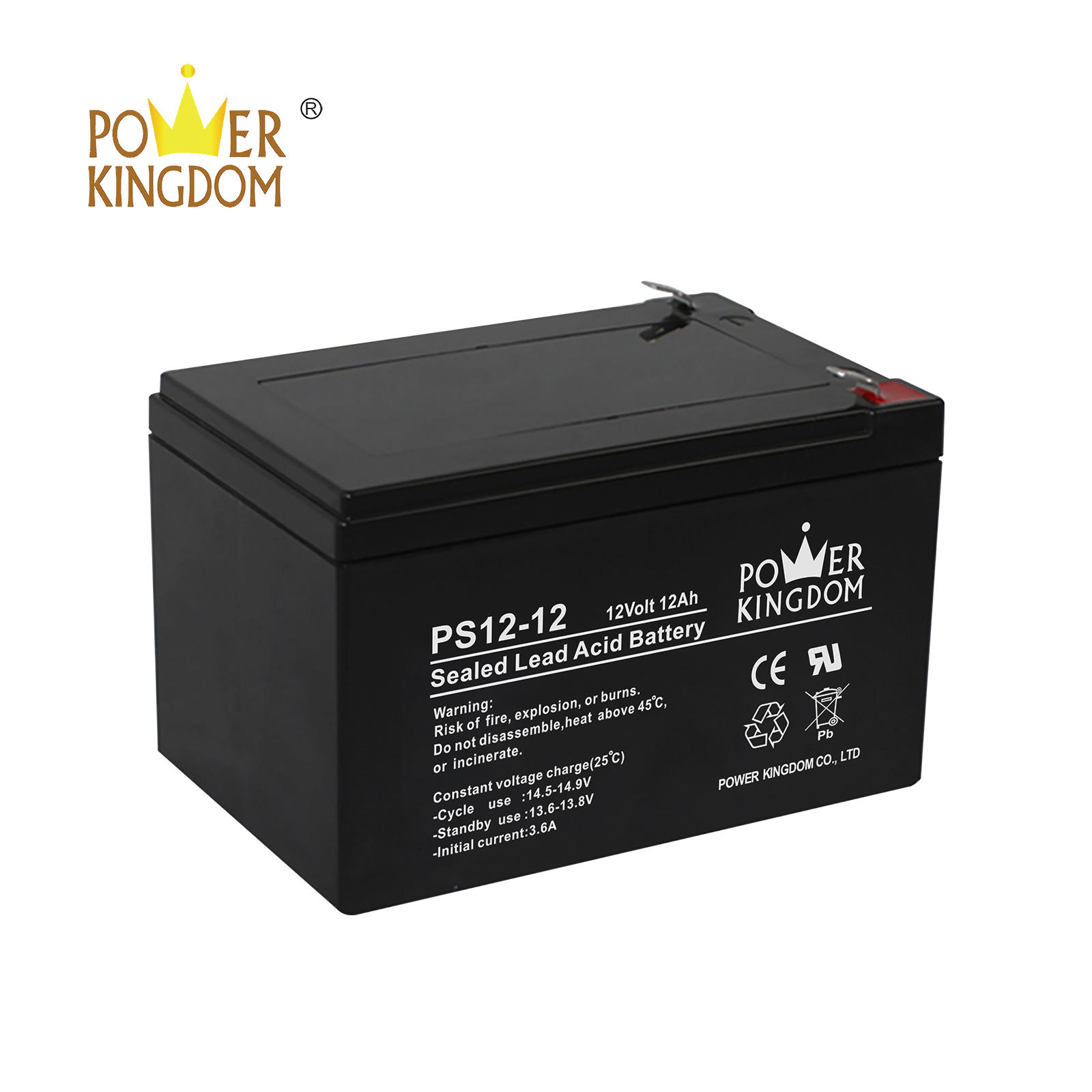 Hot sale PS12-12 lead acid battery 12v 12ah 20hr small rechargeable battery