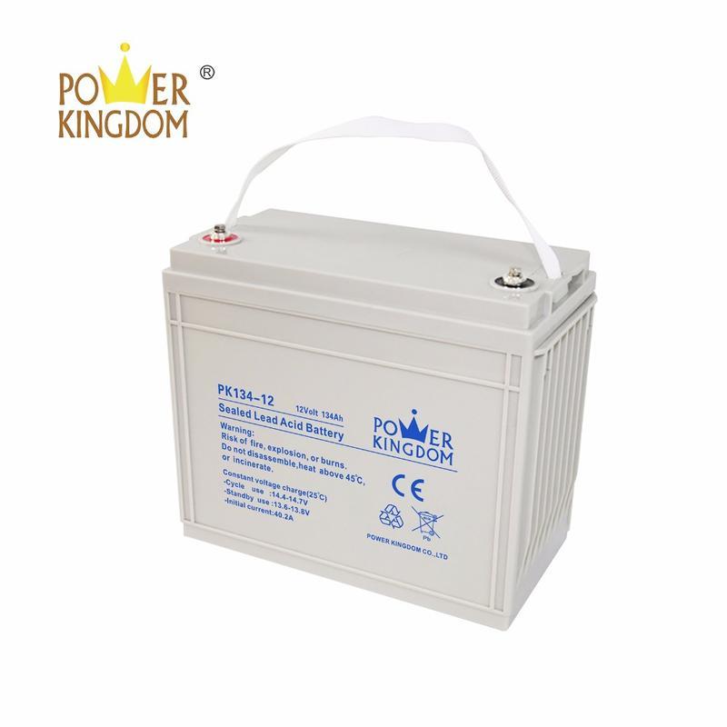 pure lead long life 12V 134AH deep cycle battery for UPS sloar data center