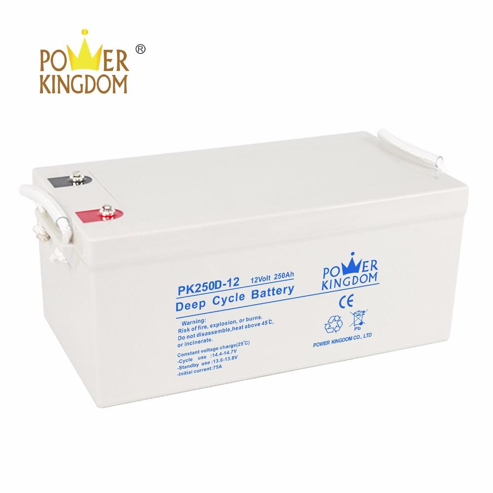 High performance sealed lead acid storage agm deep cycle battery 12V 250ah for solar & UPS