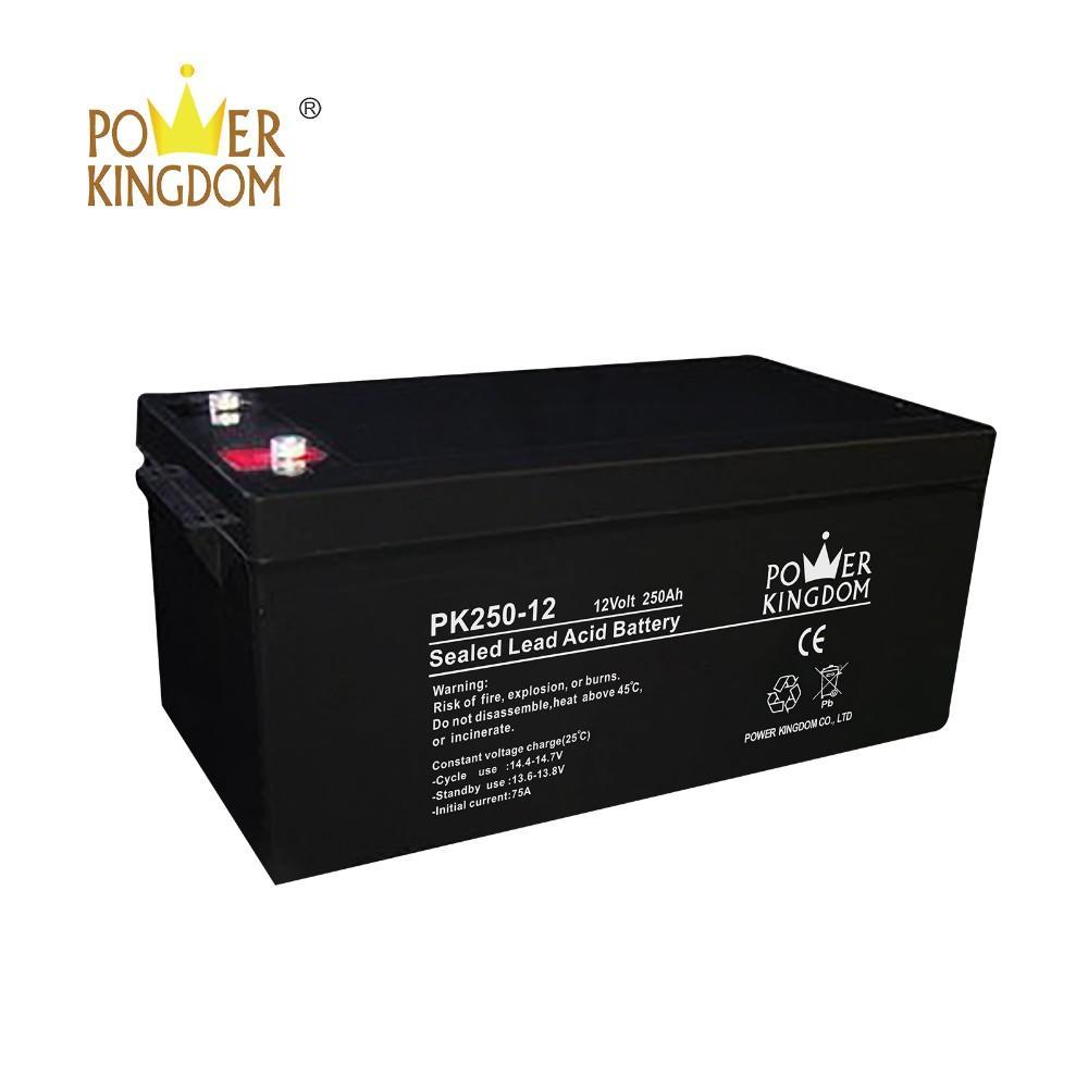 High performance sealed lead acid storage agm deep cycle battery 12V 250ah for solar & UPS