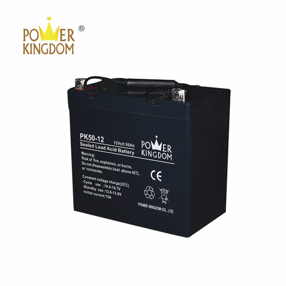 power kingdom maintenance free 12v 50ah storage agm lead acid battery for UPS inverter solar power telecom