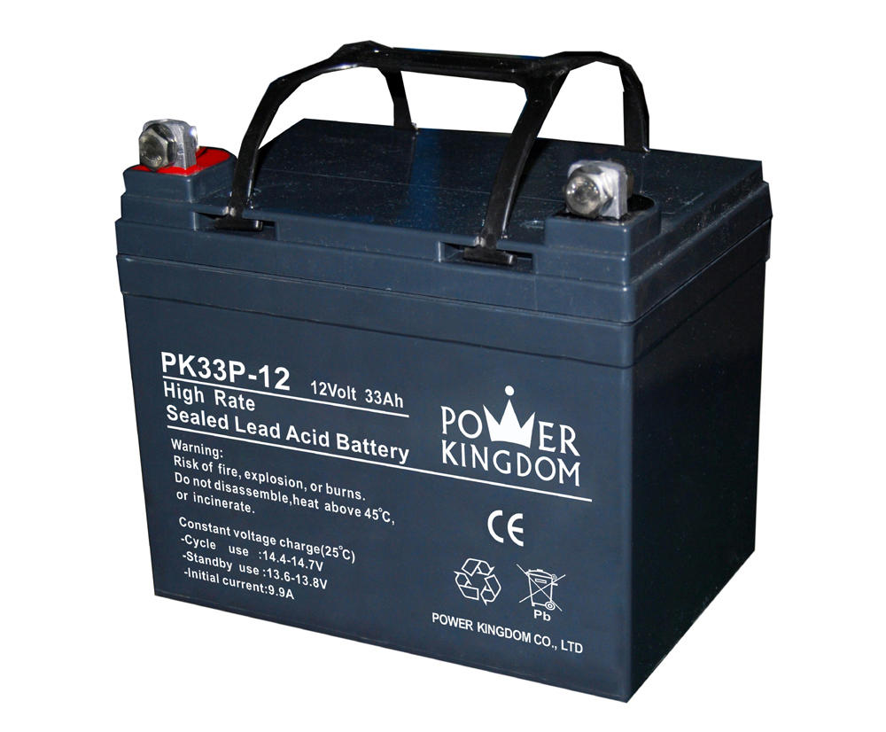 High Performance rechargeable storage lead aicd battery 12v 33ah battery for UPS wheel chair solar cctv system