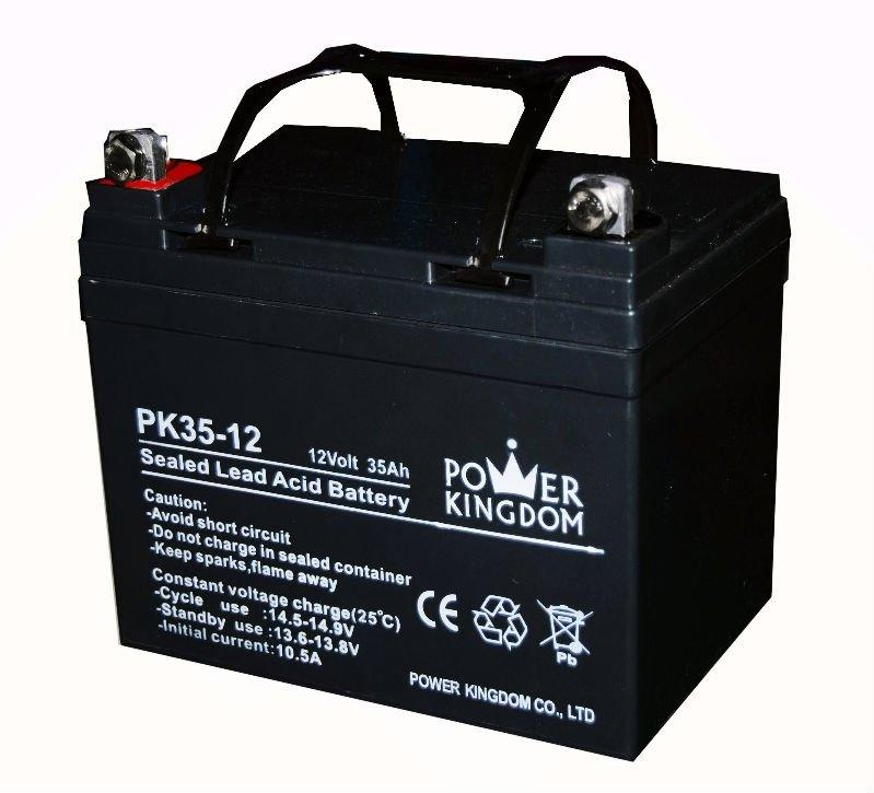 pure lead battery rechargeable ups wheel chair deep cycle gel sealed lead acid battery 12v 35ah