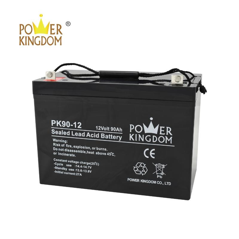12V 90AH Rechargeable Storage Gel Battery For Standby Power Supply solar power system