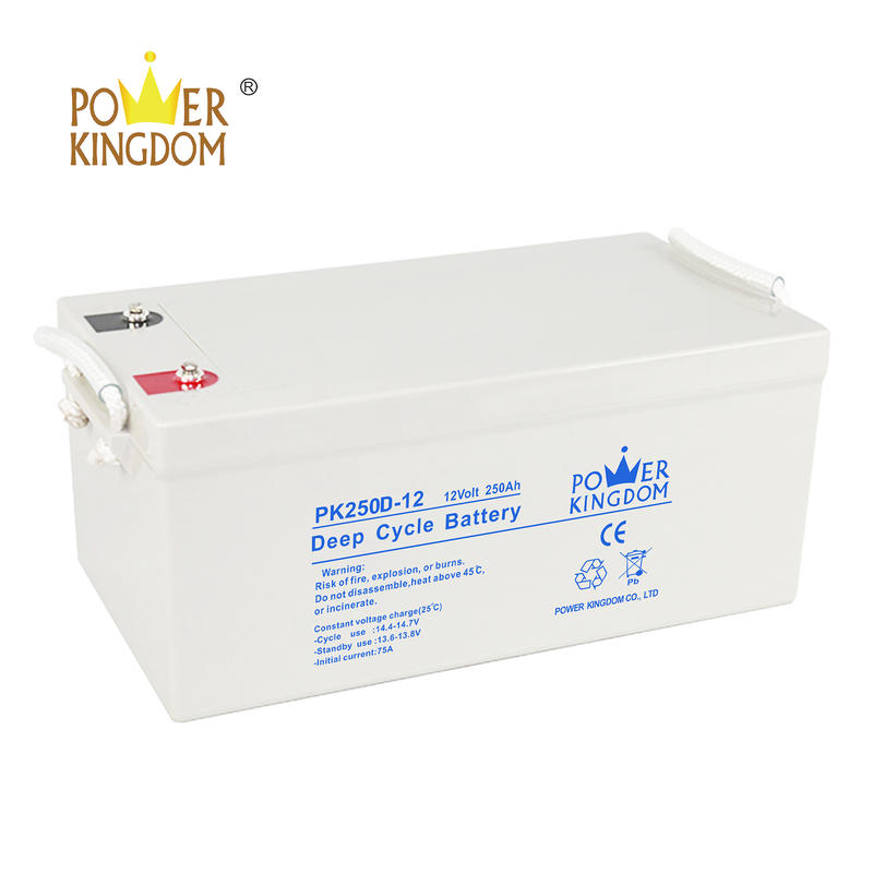on sale pure lead deep cycle battery 12v 250ah with two years warranty