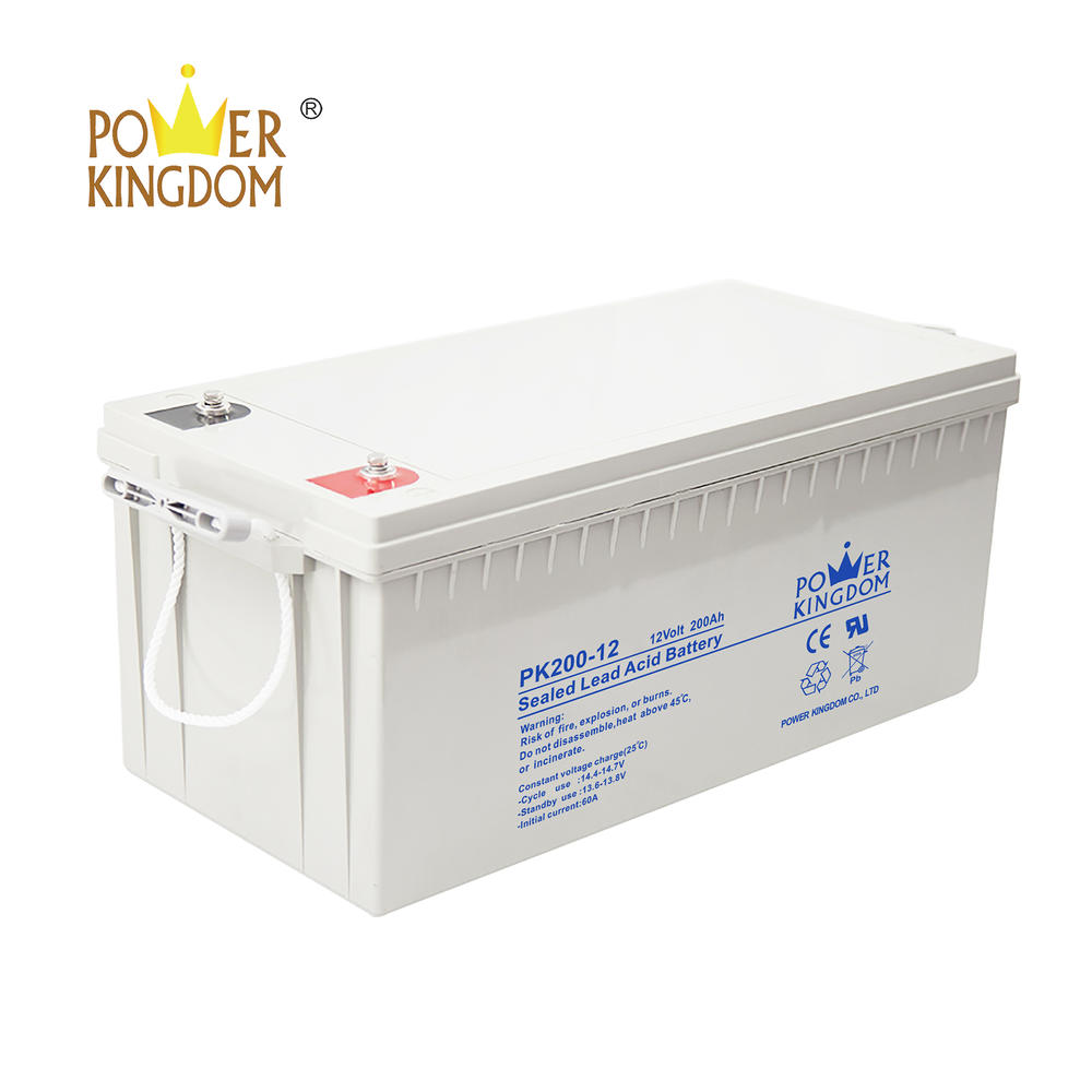 pure lead deep cycle long life solar battery 200ah 12V VRLA storage lead acid battery with two years warranty