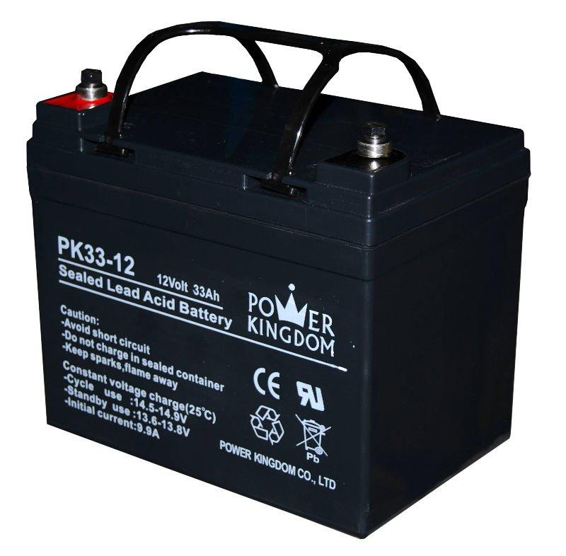 wheel chair battery maintenance free battery 12v 33ah