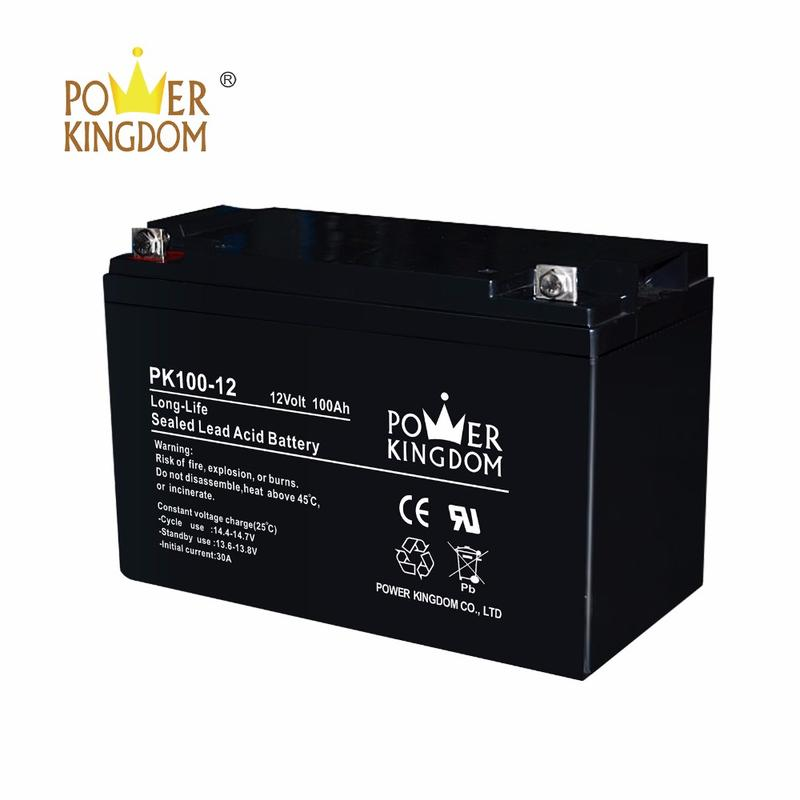 2 years warranty Factory price 12V 100ah AGM Lead Acid Battery for Solar System