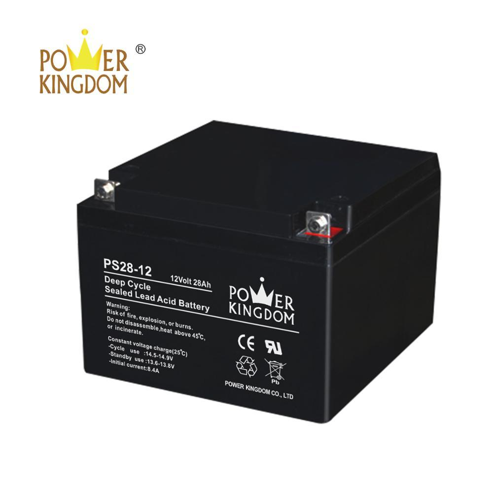 low price valve regulated rechargeable 12v 28ah lead acid battery for scooter ups