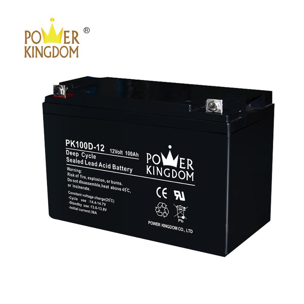 Power Kingdom 12v 100ah vrla battery China manufacturer with high quality