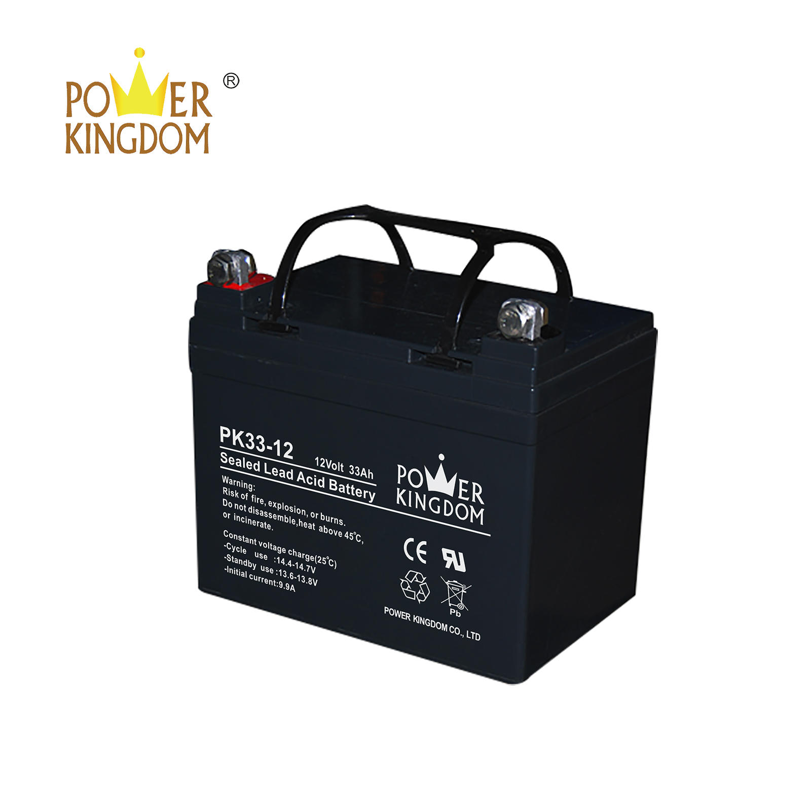high quality solar battery 12v 33ah lead acid battery