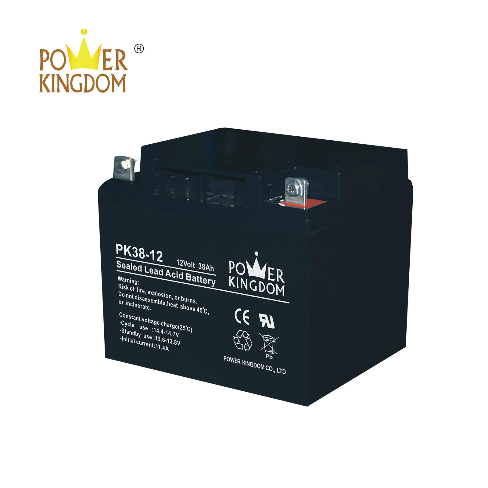 free maintenance 12v 38ah battery for telecom system