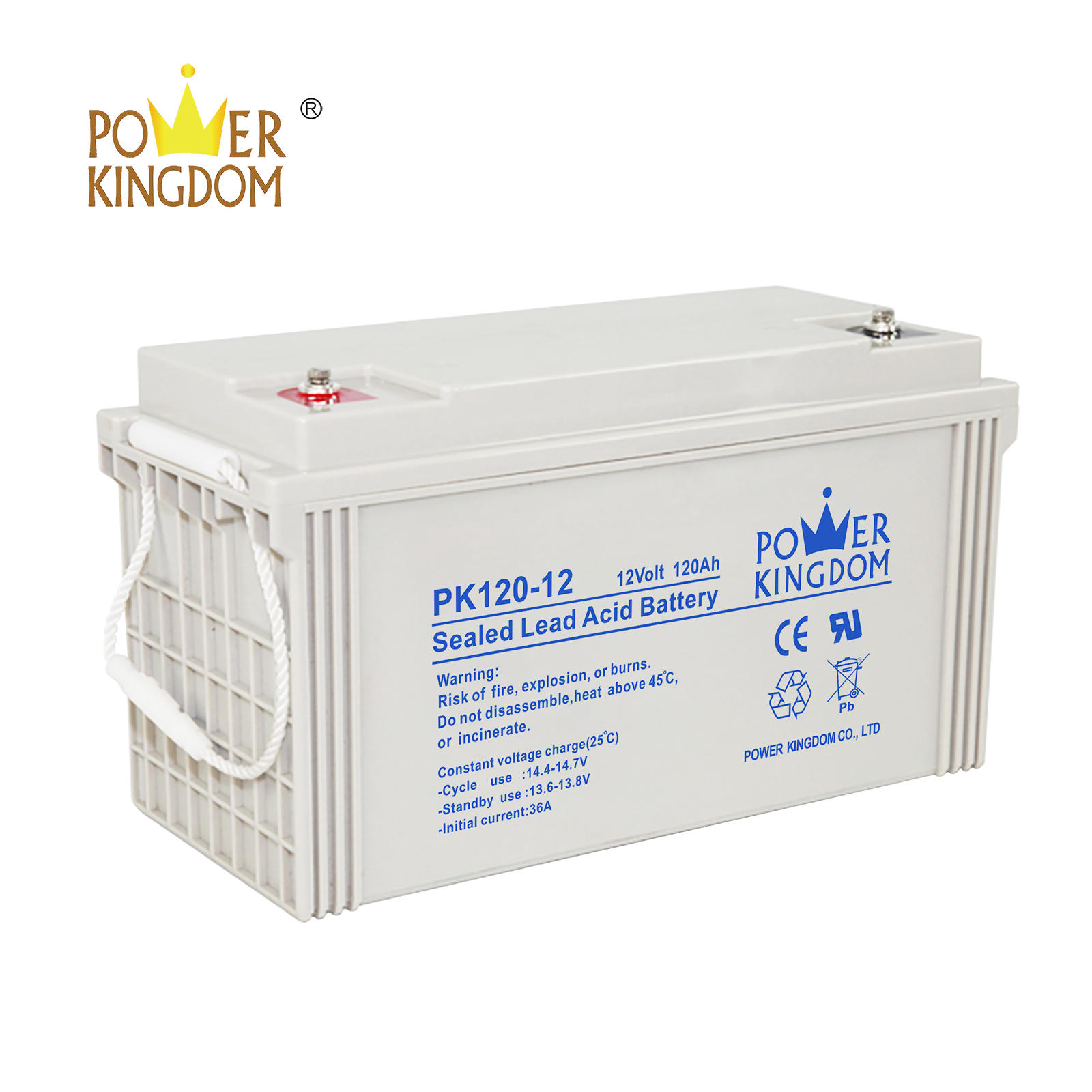 Power Kingdom 12v 120ah lead acid battery