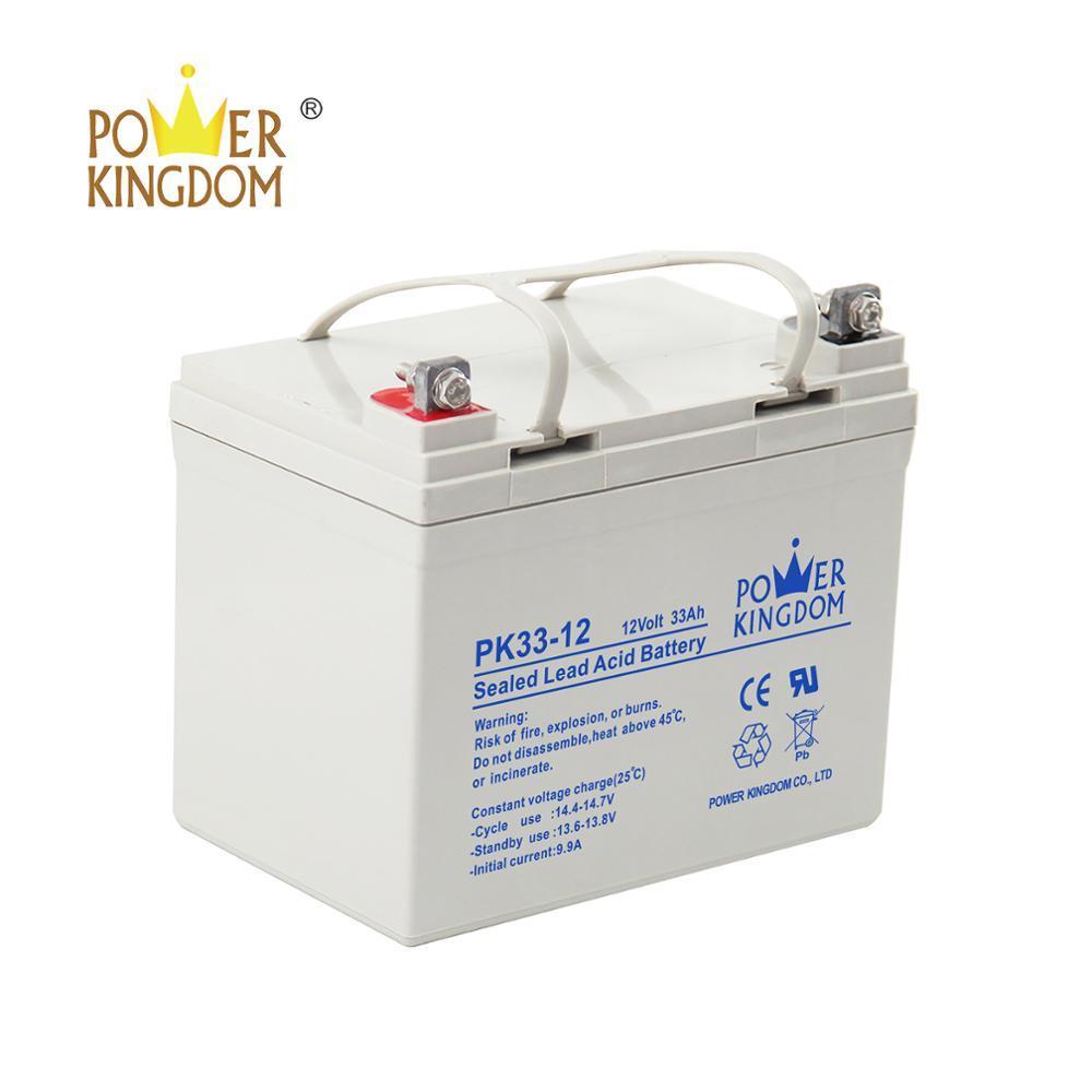Power Kingdom vrla battery 12 v 33ah with CE ISO
