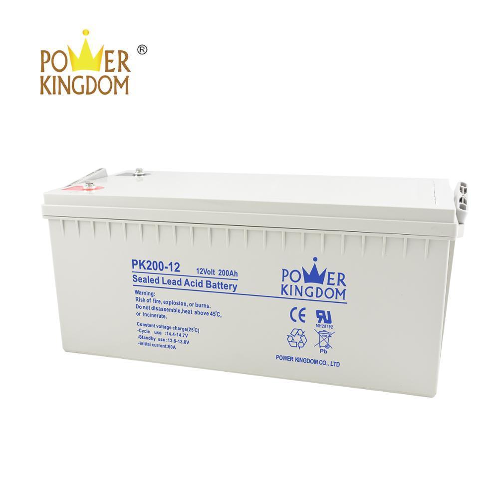 maintenance free sealed lead-acid battery for solar panel 12v 200ah
