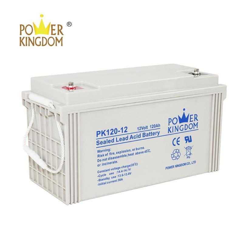 rechargeable 12v 120 ah agm sealed lead acid battery for solar with factory price