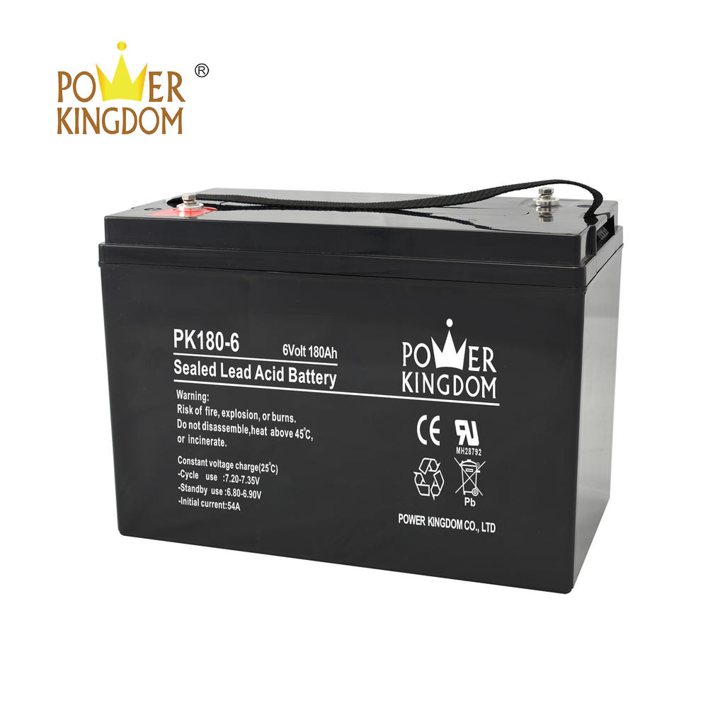Factory direct sell 6v 12v 180ah deep cycle battery for solar system