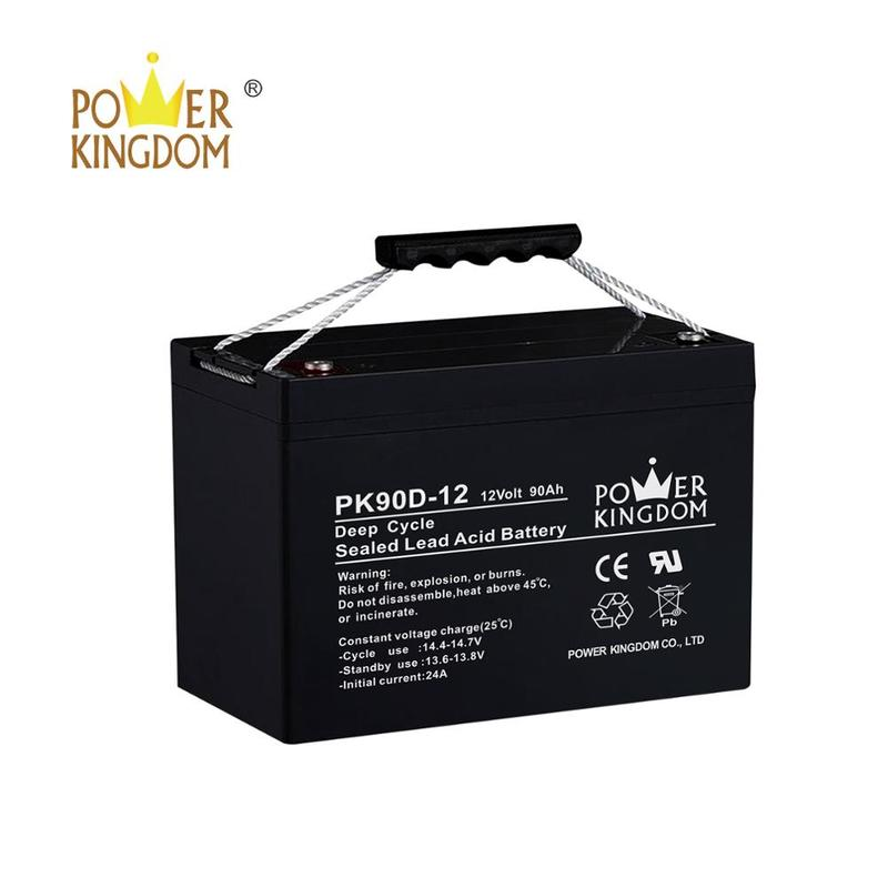 100% original High Efficient 12V 90AH scrap rechargeable lead acid battery