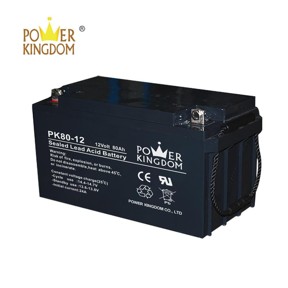 12V 80AH AGM VALR solar battery /UPS backup battery 10hrt