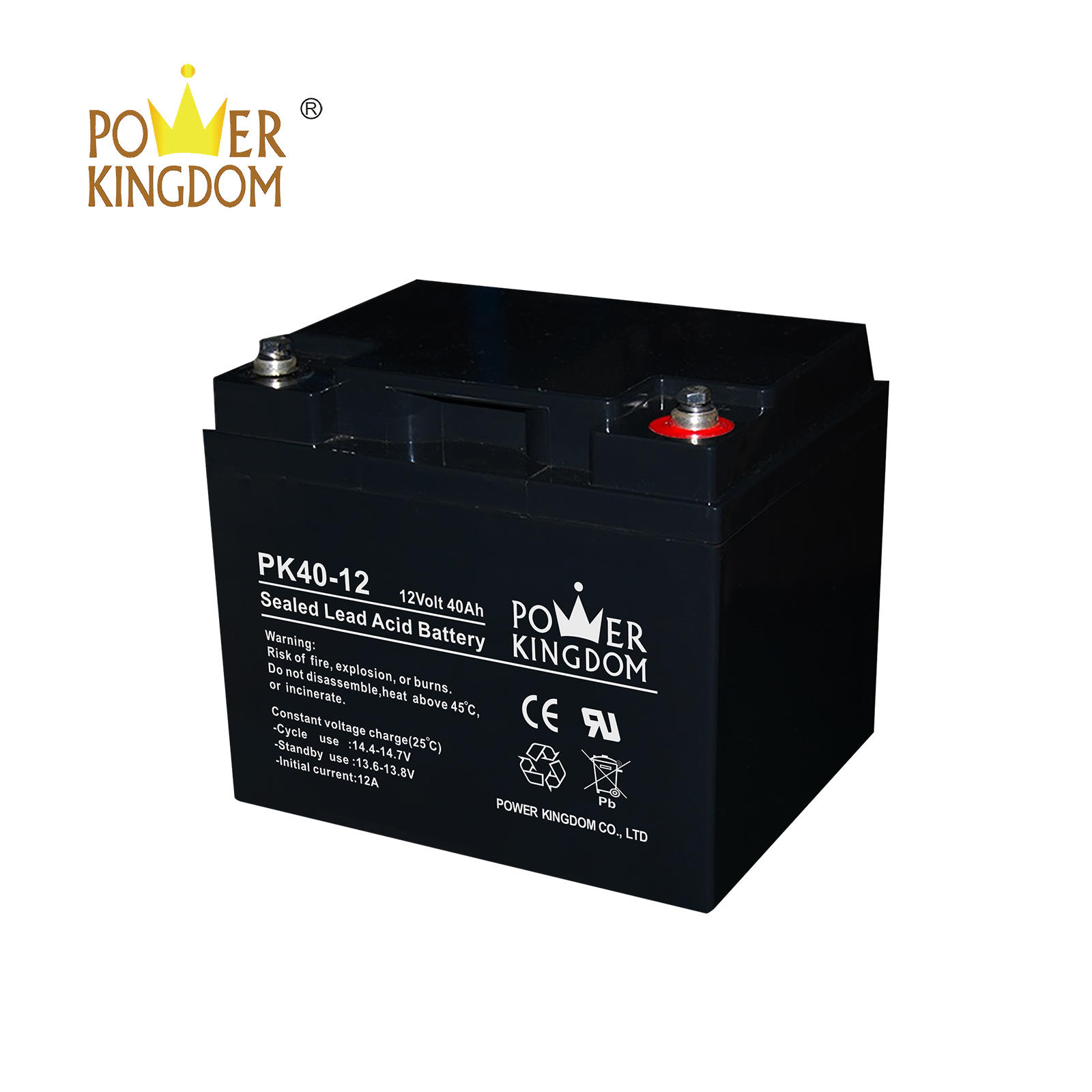 VALR battery 12V 40AH rechargeable maintenance free UPS battery 10hr