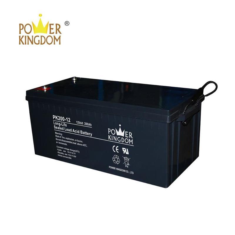 AGM Maintenance free battery long life 12v 200ah solar battery