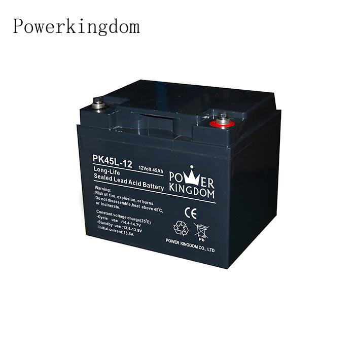 Long Life Battery Quality 12V 24V 45AH solar streetlight battery