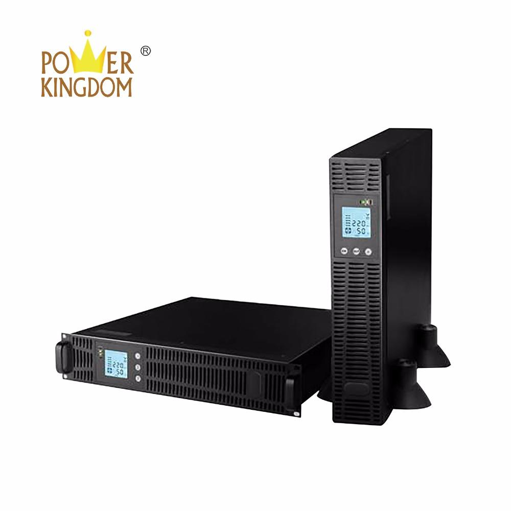 19'' 2U Rack Mount UPS 1KVA 2KVA 3KVA 6KVA 10KVA Double Conversion High Frequency Sine Pure Wave 110V 220V Online UPS