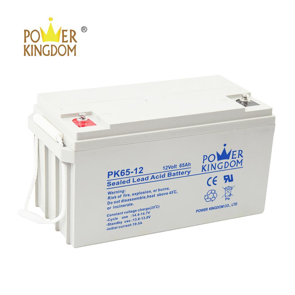 Power Kingdom long life best price for sale sealed lead acid battery 12v 65ah