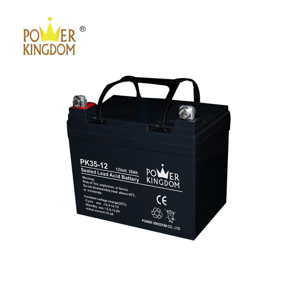 2 years warranty lead acid 12v 35ah rechargeable battery