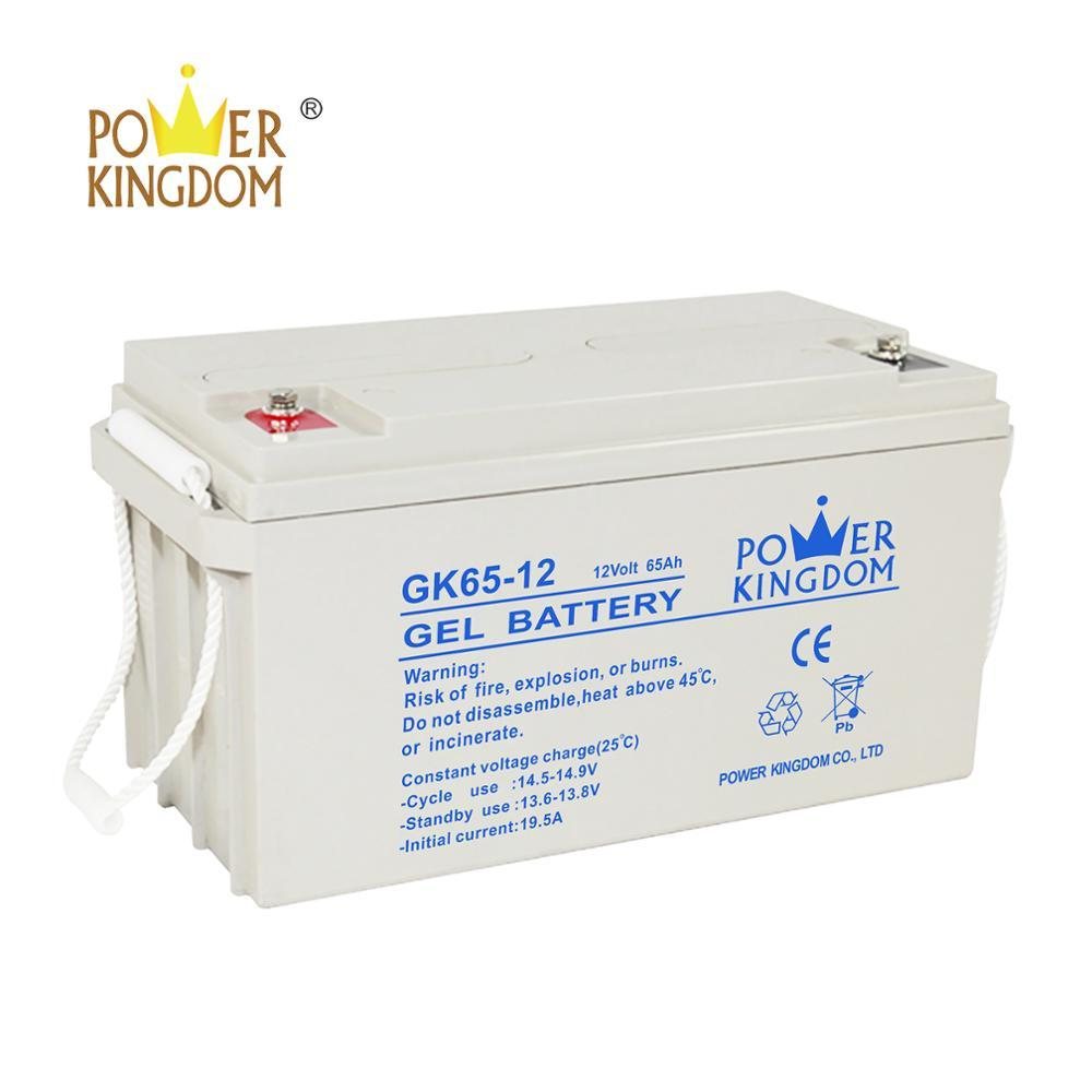 rechargeable sealed maintenance free valve regulated deep cycle manufacturers 12V 65Ah AGM UPS Gel lead acid battery