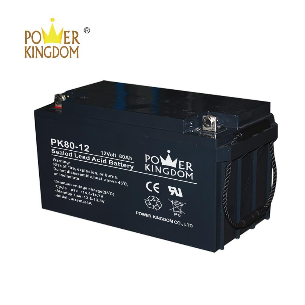 UPS solar AGM battery 12v 80ah lead acid battery for home appliances