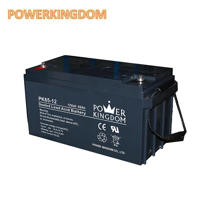 Powerkingdom solar energy storage battery/lead acid battery 6v/12v 65AHbattery for solar system