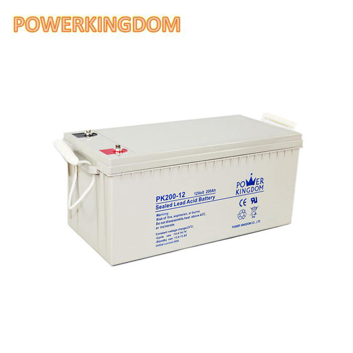 Europe Quality 12v 200ah portable solar power rechargeable lead acid battery with Gray Color