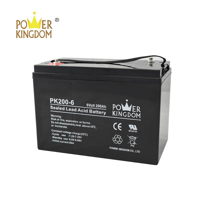 6V 200AH Sealed Lead Acid Battery High Rate 6 Volt Solar Battery